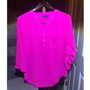 Women's Kaari Blue Blouse, Bright pink, Large